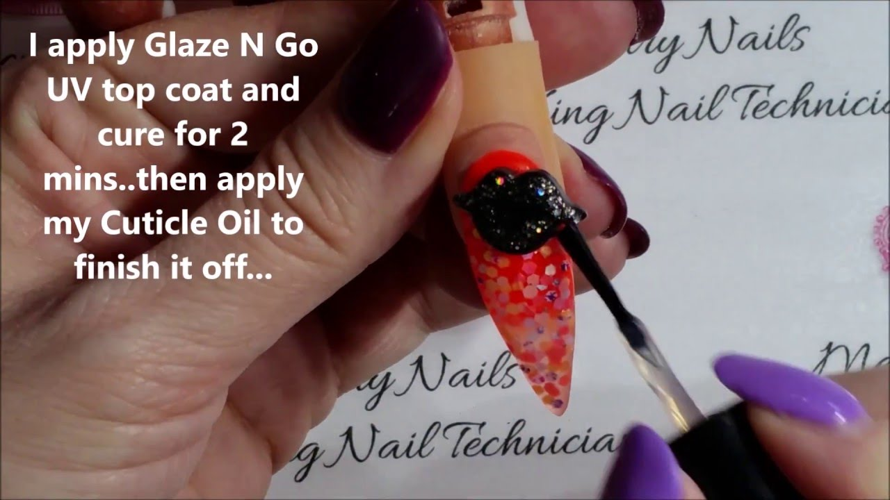 Tasty Glitter Lips Acrylic Nail Design...Enjoy!! - YouTube