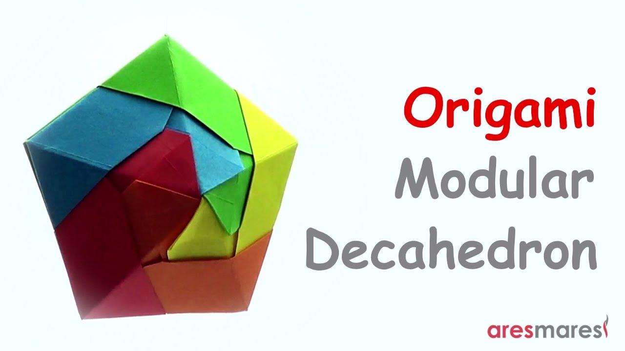origami ufo like decahedron easy modular youtube