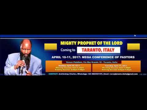 Italy Revival - Day 1, Session 2 (10.04.2017) - Prophet Dr. David Owuor
