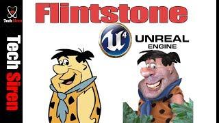 3D side scroller unreal engine 4   Flintstone game demo