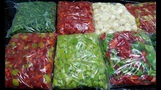 Заморозка овощей на зиму. Заготовка для лагмана.  Рецепты от узбечки