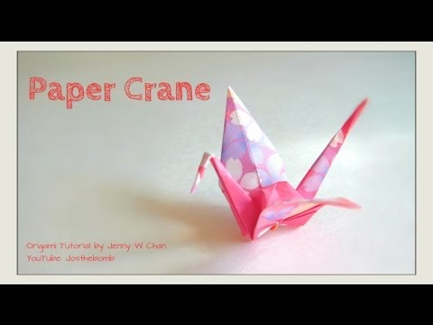 How To Fold A Paper Crane Puffy Body Origami Tutorial Youtube