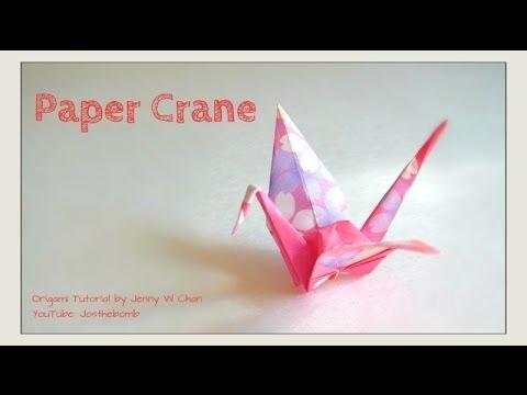 How to fold a paper crane puffy body origami tutorial for Crane tutorial
