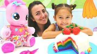 My Little pony Pinkie Pie doğum günü pastası