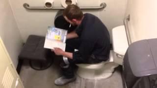 Tire Cheetah bathroom blast