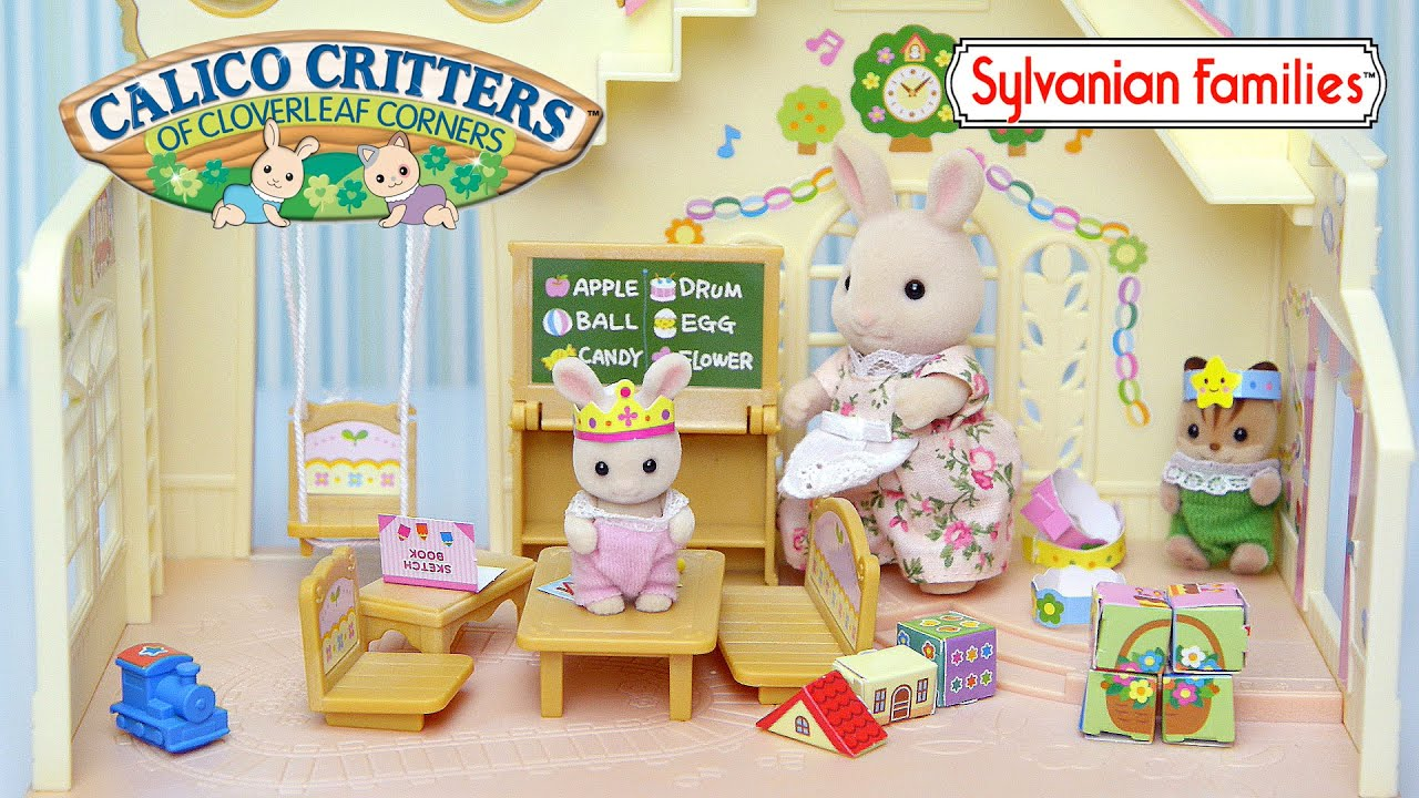Sylvanian Families Calico Critters Forest Rainbow Nursery Baby Set Unboxing