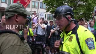 USA: Right-wing rally for 'free speech' met by antifa protesters in Boston