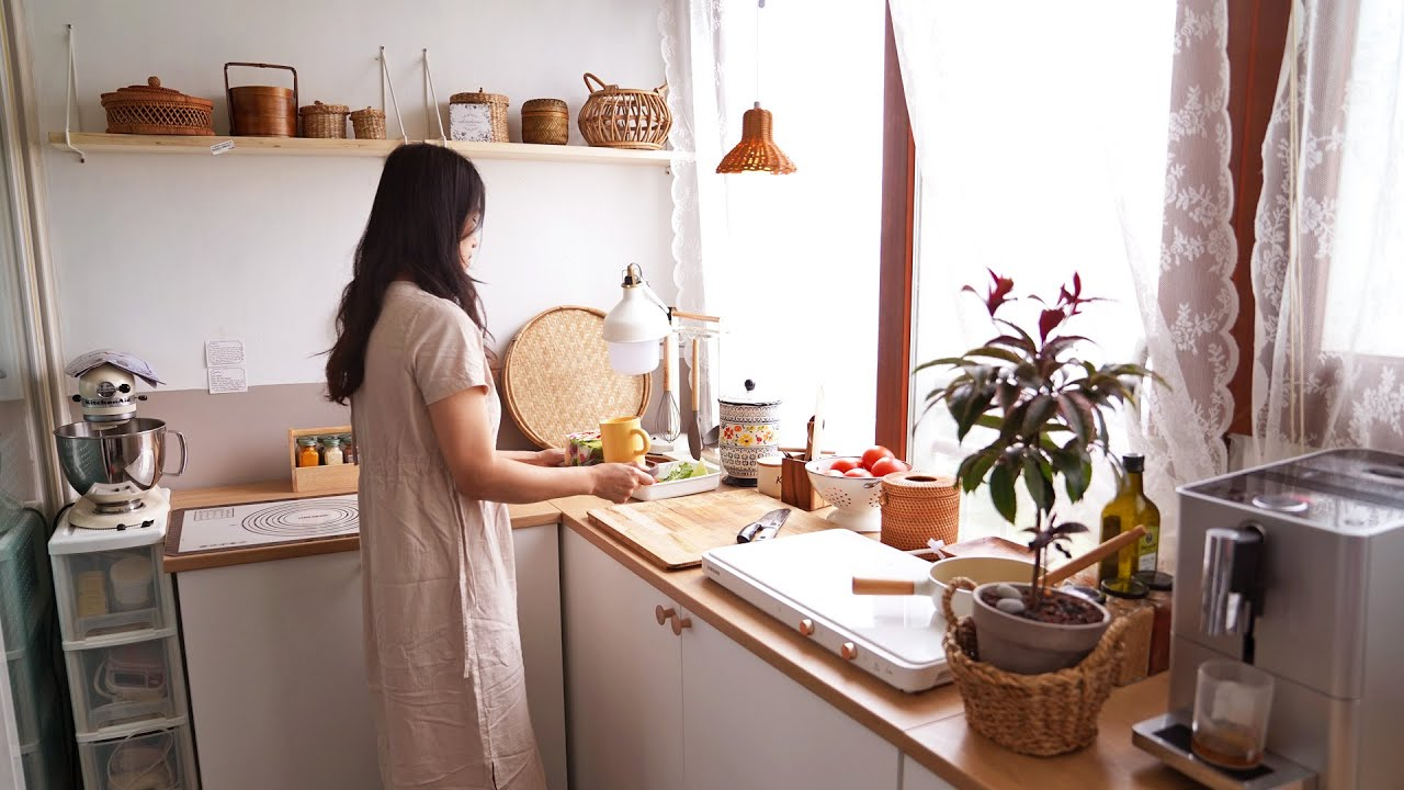 여름날의 건강한 집밥과 주방도구 청소 | 동죽조개탕, 두릅새우전, 닭볶음탕, 하프 언위치 샌드위치