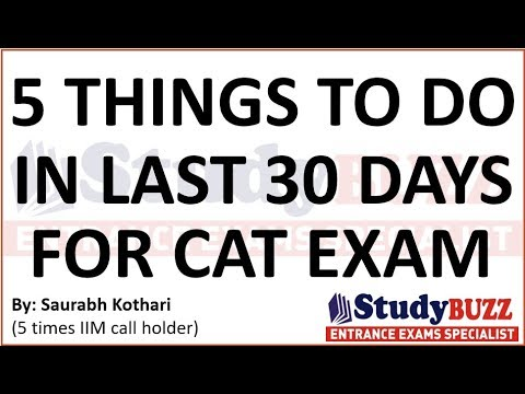 5 things to follow in last 30 days for CAT exam