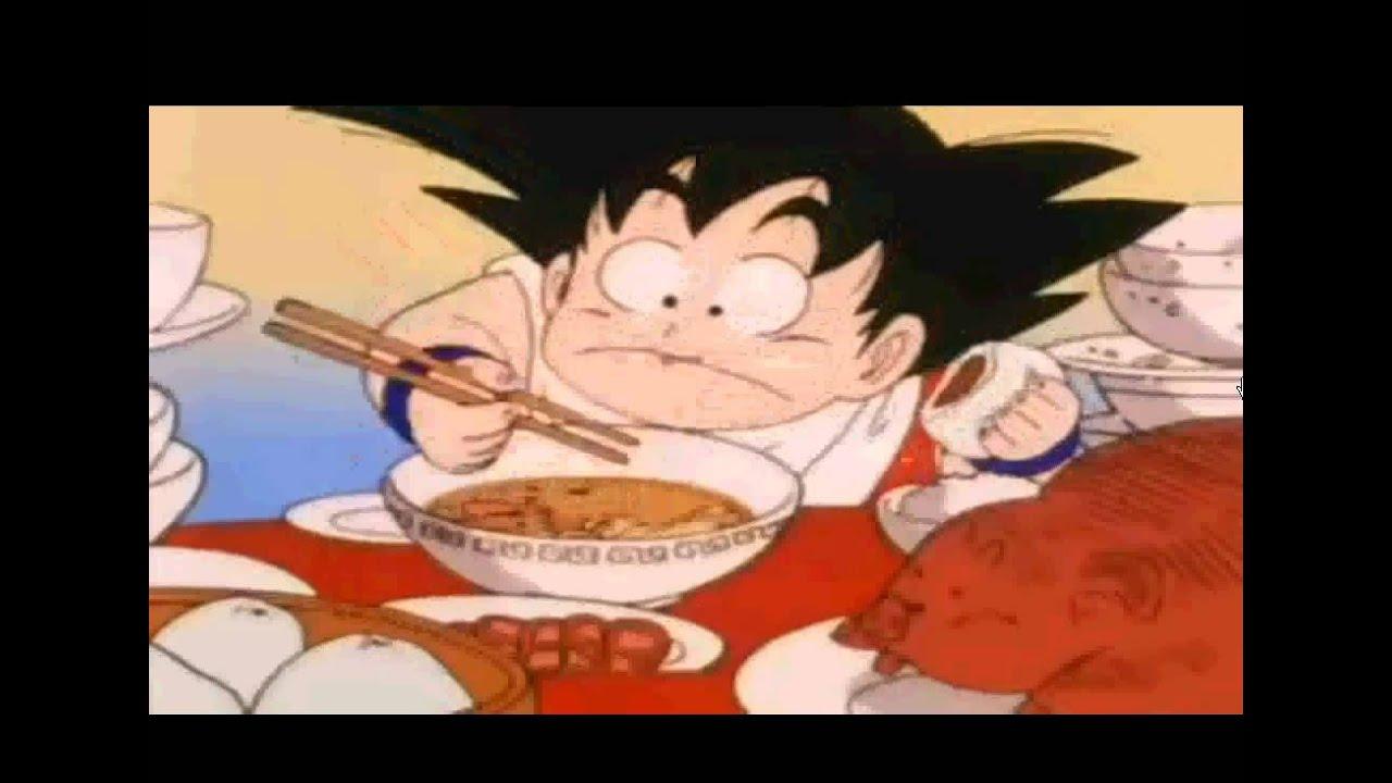 Dragon Ball Eating Scene Delicious English Version Youtube