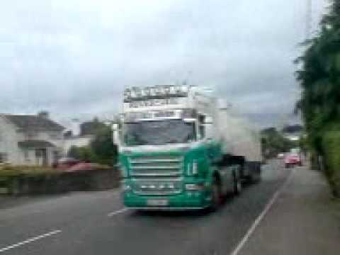 river side lorry gonig up the armagh newry road