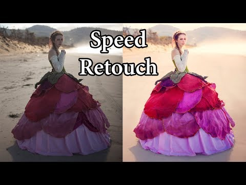 Rose Gown Transformation Speed Edit Retouch Timelapse (Adobe Photoshop Tutorials CC Creative Cloud)