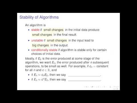 Introduction to Algorithms and Convergence