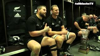 Hear from the All Blacks after their 27-20 win v South Africa