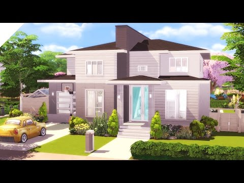 The Sims 4: Speed Build | Modern Suburban  #ccfreesunday