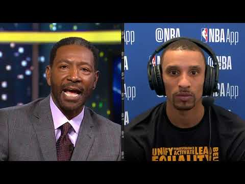 Gametime George Hill | Postgame Celtics vs Cavaliers | Feb 11, 2018
