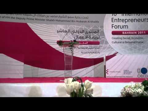 10th International Entrepreneurship Forum Keynote Speech: Daniel Isenberg