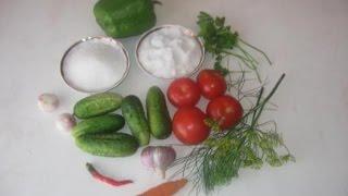 Как консервировать огурцы с томатами. Своими руками