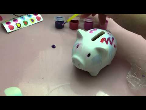 Decorate your own piggy bank youtube for Make your own piggy bank