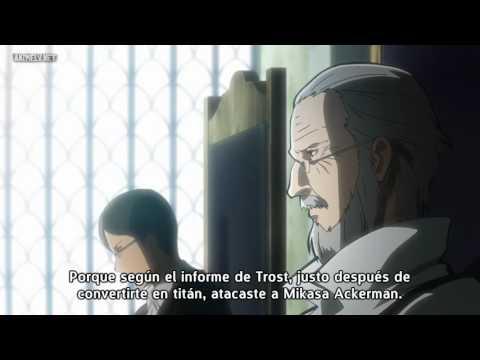 Eren se entera que atacó a mikasa y la defiende en la corte [sub español]