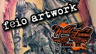 FEIO ARTWORK - World Famous Tattoo Ink(Nuno Feio (Feio Artwork), a Pro-Team member of World Famous Tattoo Ink, is a tattoo artist from Lisbon, Portugal, at Heart of Buda Tattoo Shop. World Famous ..., 2015-11-12T12:58:07.000Z)