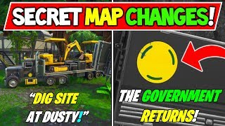 "'NEW' FORTNITE SECRET MAP changes ""THE GOVERNMENT RETURNS"" - ""DIG SITE NUMBER 2"" -Saison 8 Storyline"