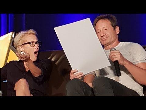Gillian Anderson & David Duchovny Chicago Wizard World panel 2018