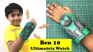 I Made Ben 10 Ultimatrix Alien Interface Watch | Cardboard DIY | Sparsh transforms into DiamondHead