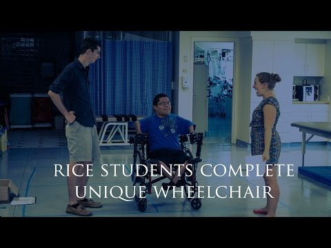 Rice University students build custom chair for teen with arthrogryposis