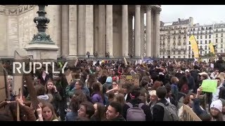 LIVE: Students call for massive strike in Paris against climate change