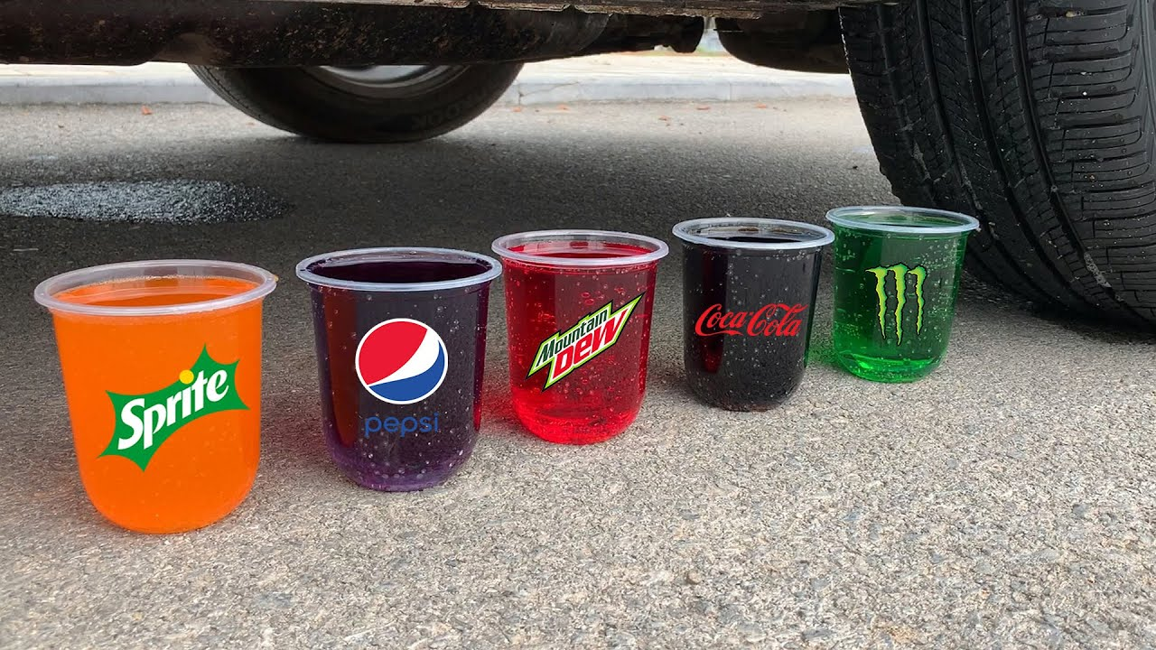 Experiment Car vs Coca, Fanta, Mirinda Balloons | Crushing Crunchy & Soft Things by Car | Test #51