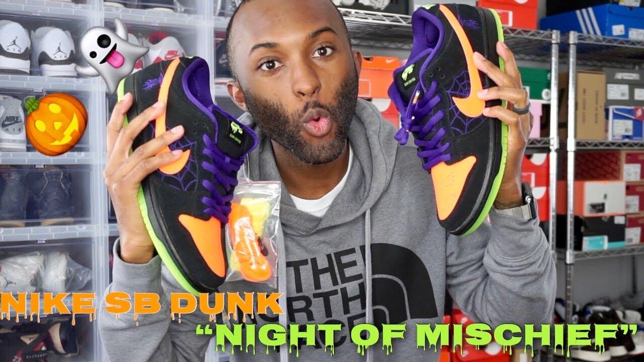 nike sb dunk low night of mischief stockx