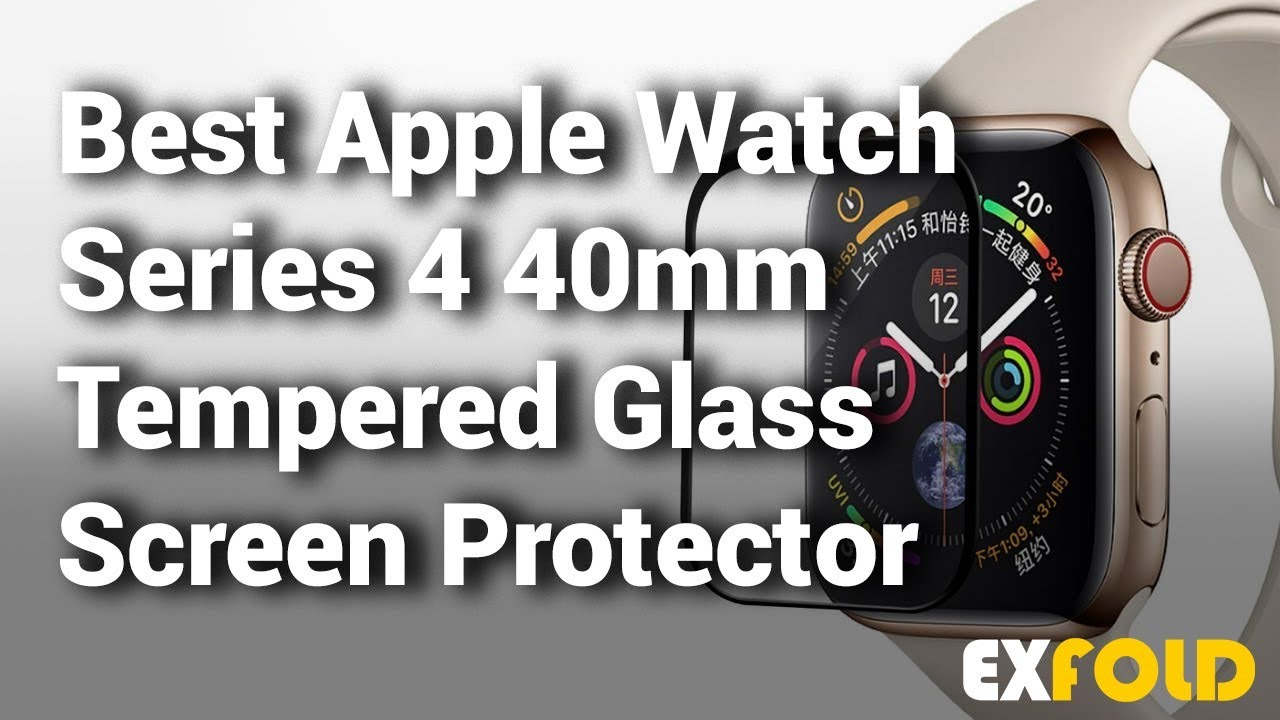 separation shoes fd03a 21f5b 10 Best Apple Watch Series 4 40mm Tempered Glass Screen Protector