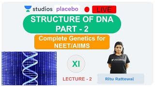 L2: Structure of DNA Part- 2 | Complete Genetics (Pre-medical-NEET/AIIMS) | Ritu Rattewal