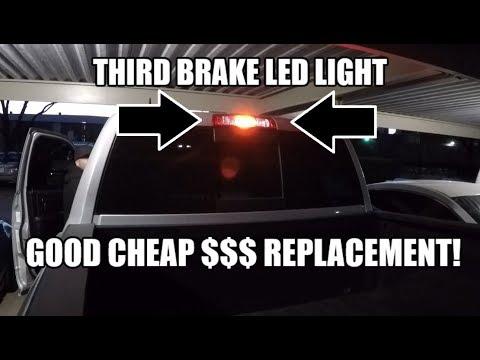 Upgrading The 3rd Brake Light Bulb To Led 921 Canbus Type Dodge Ram 1500 2500 3500