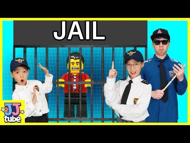 다이아몬드를 훔친 도둑을 잡아라!! 레고시티 경찰 장난감 상황극 놀이 Pretend Play Police in Jail [제이제이 튜브-JJ tube]