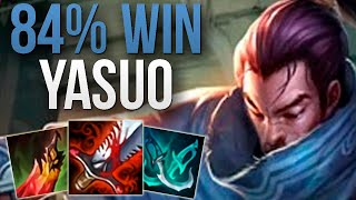 CHALLENGER 84% WIN RATE YASUO! | CHALLENGER YASUO MID GAMEPLAY