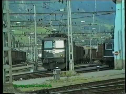 SBB Ae 6/6, Erstfeld 1990, TOP-Video Teil 3/3