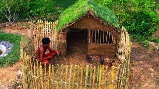Secret Of Primitive: Building House Chicken