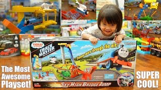 Thomas & Friends Sky-High Bridge Jump Trackmaster Set Unboxing, Testing and Playtime