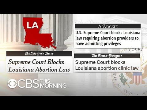 Supreme Court blocks controversial Louisiana abortion law