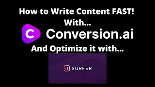 Jarvis.ai How to Write Content Fast with Conversion AI & Optimizing it with Surfer SEO