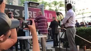 Aerosmith Entering Rockefeller Plaza The Today Show 2018