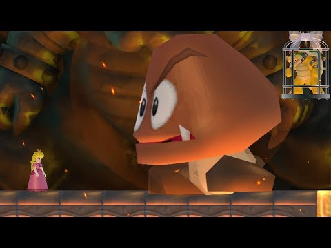 New Super Mario Bros. Wii - Final Boss Evil Goomba & Ending