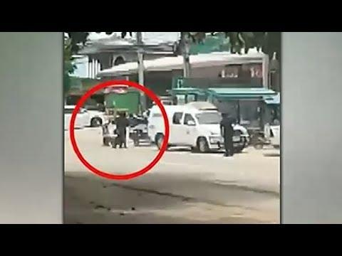 วินาที โจรบุกชิงเงินจากรถขนเงิน ถูกยิงสวนเจ็บ ยังใจแข็งขับหนีต่อ ไปซ่อนตัวข้ามจังหวัด