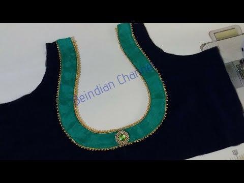 Very Beautiful Matka Gala Design Blouse Cutting & Stitching
