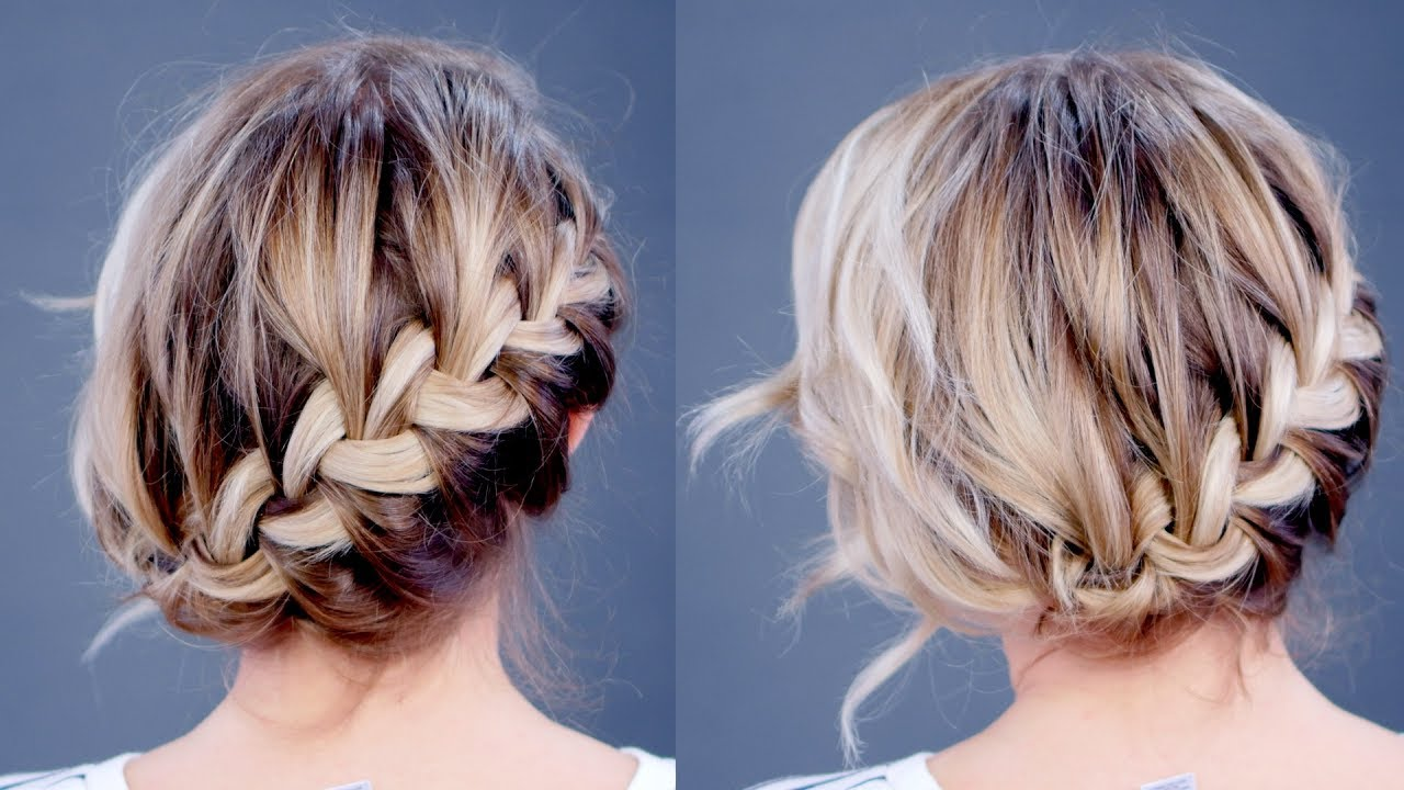 Hairstyle Of The Day: Simple Diagonal French Braid Updo  Milabu