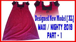 74bca81373 HOW TO STITCH A NEW MODEL NIGHTY EASY METHOD PART 1 (MALAYALAM TUTORIAL)