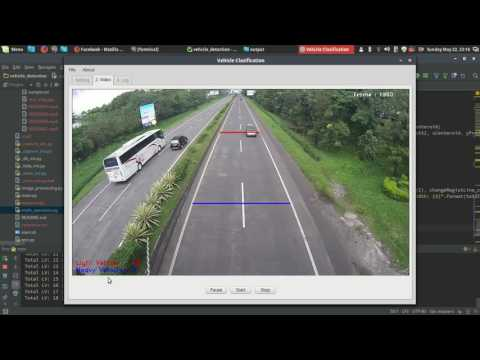 Vehicle Counting And Classification Using OPENCV