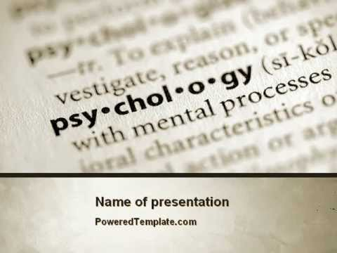 Definition of psychology powerpoint template by for Define template in powerpoint